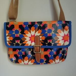 NWOT Fossil Starburst Mini Crossbody in Canvas